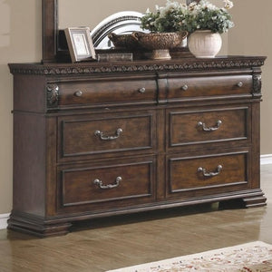 Satterfield 6 Drawer Dresser with Felt Lined Top Drawers