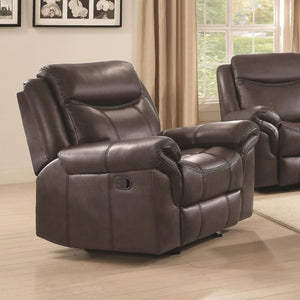 Sawyer Motion Plush Glider Recliner with Contrast Piping