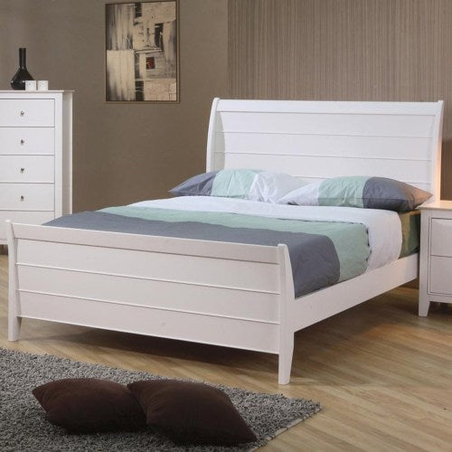 Selena Twin Sleigh Bed with Panel Detail