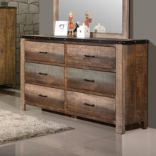 Load image into Gallery viewer, Sembene Rustic Dresser with Six Drawers