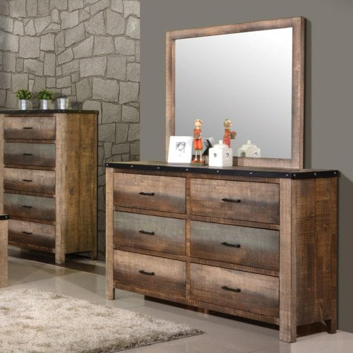 Sembene Rustic Dresser and Mirror Set
