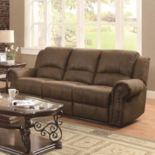 Load image into Gallery viewer, Sir Rawlinson Traditional Reclining Sofa with Nailhead Studs
