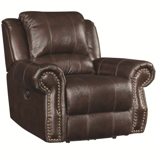 Sir Rawlinson Traditional Swivel Rocker Recliner with Nailhead Studs