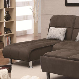Sofa Beds and Futons Casual Styled Living Room Chaise Sleeper