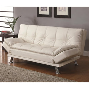 Sofa Beds and Futons Contemporary Styled Futon Sleeper Sofa with Casual Seam Stitching
