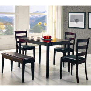 Taraval 5 Piece Dining Set with Bench