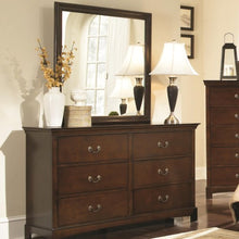Load image into Gallery viewer, Tatiana Transitional Six Drawer Dresser and Mirror Combination