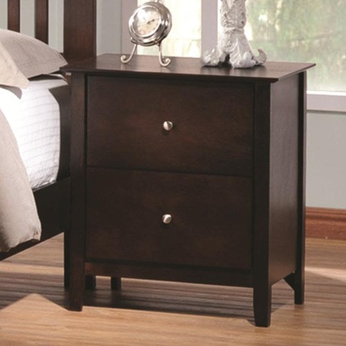 Tia Casual 2 Drawer Night Stand