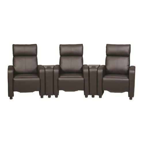 Toohey Contemporary Five Piece Reclining Home Theater Seating with Console Tables