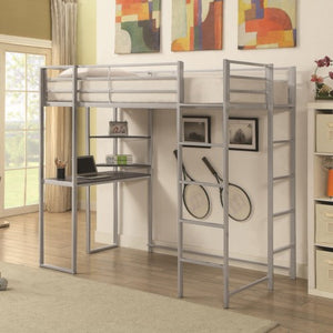 Trinidad Metal Twin Workstation Bed
