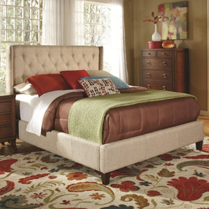 Upholstered Beds Upholstered California King Bed with Tall, Tufted Headboard