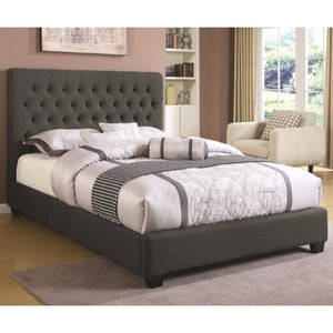 Upholstered Beds California King Chloe Upholstered Bed with Tufted Headboard & Neutral Color Fabric