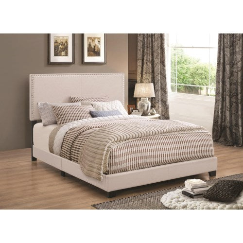 Upholstered Beds Upholstered King Bed with Nailhead Trim