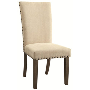 Webber Transitional Style Side Chair with Padded Upholstery and Nailhead Trim