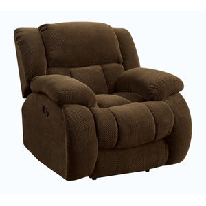 Weissman Casual Pillow Padded Glider Recliner