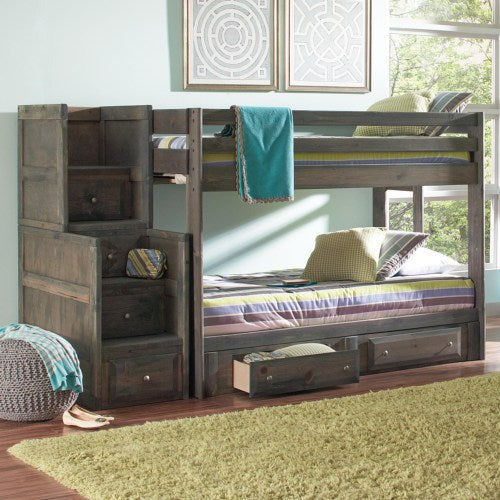 COASTER FULL BUNK BED WITH UNDER DRESSER AND STAIRWAY CHEST  400833