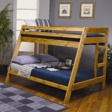 Load image into Gallery viewer, Wrangle Hill Twin Over Full Bunk Bed with Built-In Ladder