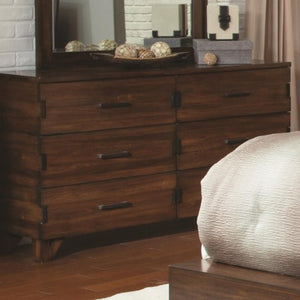 Yorkshire 6 Drawer Dresser with Exposed Finger Joint