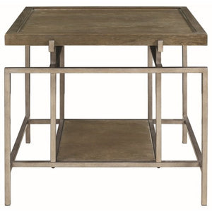 72143 Contemporary End Table with Geometric Frame