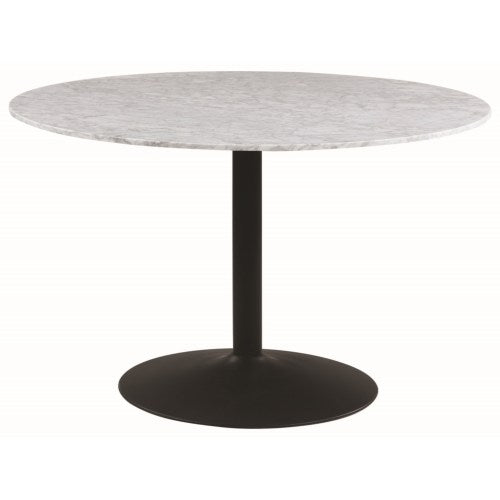 Bartole Round Dining Table with Carrara Top