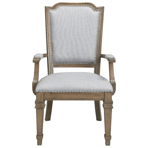 Florence Dining Arm Chair with Nail Tacks