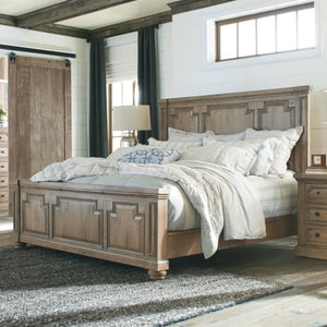 Florence Panel King Bed with Column Design