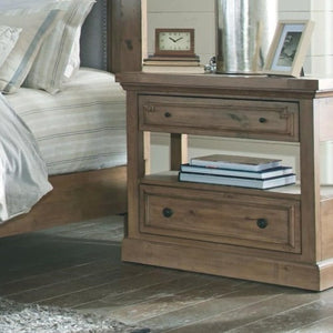 Florence Rustic Nightstand with USB Charging Port