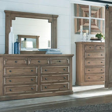 Load image into Gallery viewer, Florence Dresser and Mirror Set with Column Details