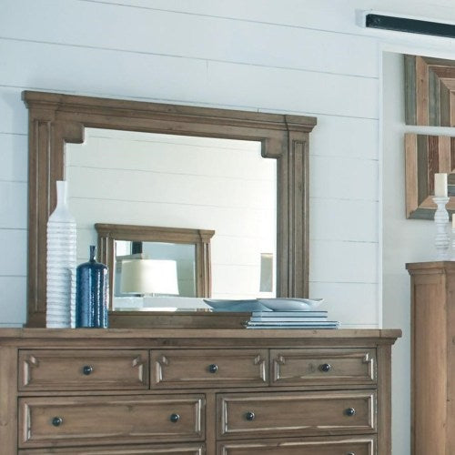 Florence Framed Mirror with Column Design