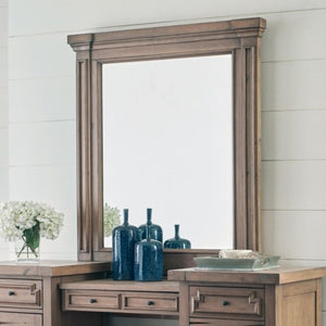 Florence Vanity Mirror with Pilasters and Molding
