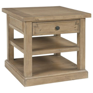 Florence Planked End Table with Drawer