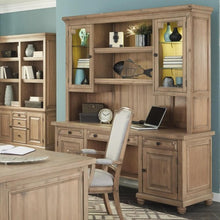 Load image into Gallery viewer, Florence Kneehole Credenza and Hutch with Rustic Finish