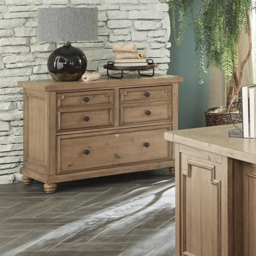 Florence File Cabinet with Rustic Finish