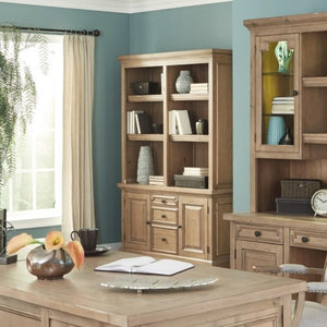 Florence Double Bookcase with Rustic Finish