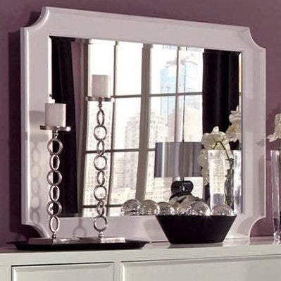 Furiani Mirror with White Frame