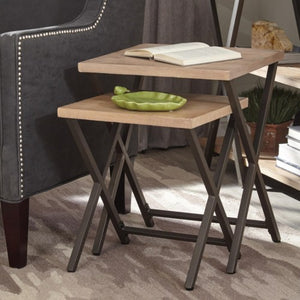 Home Accents Set of Two Nesting Tables with X-Base