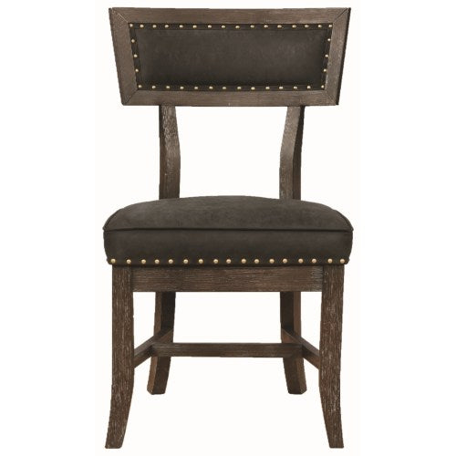 Mayberry Rustic Dining Chair with Nailhead Trim
