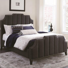 Load image into Gallery viewer, Sinclair Upholstered King Bed with Nailhead Trim