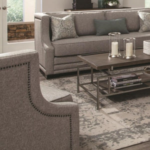 Sullivan Contemporary Upholstered Chair Accented with Nailhead Trim