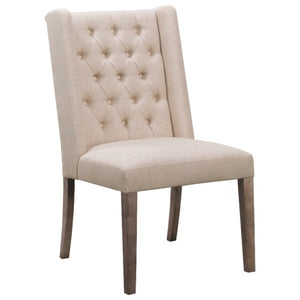 100703 Demi Wing Dining Chair with Tufted Backrest