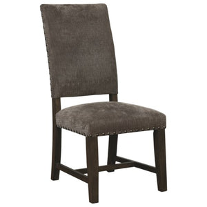 1028 Upholstered Parson Chair with Nailhead Trim