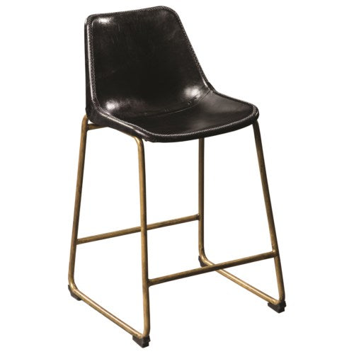 102967 Counter Height Bucket Stool with Brass Base