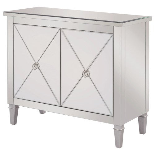950742 Accent Cabinet with Mirrored Panels