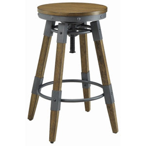 Hornell Rustic Adjustable Bar Stool