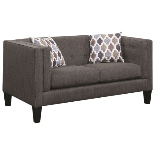Sawyer Modern Loveseat with Track Arms