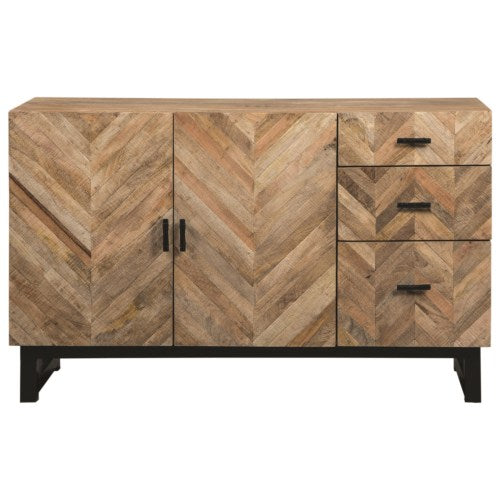 Thompson Rustic Server with Chevron Inlay Pattern