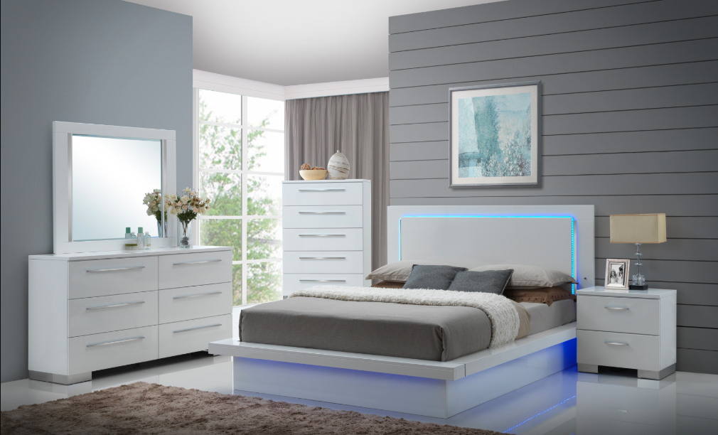 QUEEN BEDROOM SET 4 PC -SAPPHIRE NCH