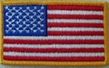 U.S. FLAG WITH GOLD BORDER