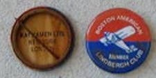 BOSTON AMERICAN LINDBERGH CLUB PIN