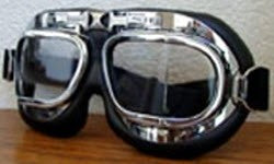 British Chrome MK VIII Flying Goggles